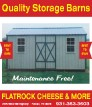 Flat Rock Cheese & More Storage Barns