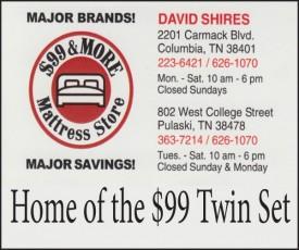 $99 & More Mattress Store