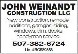 JOHN WEINANDT CONSTRUCTION